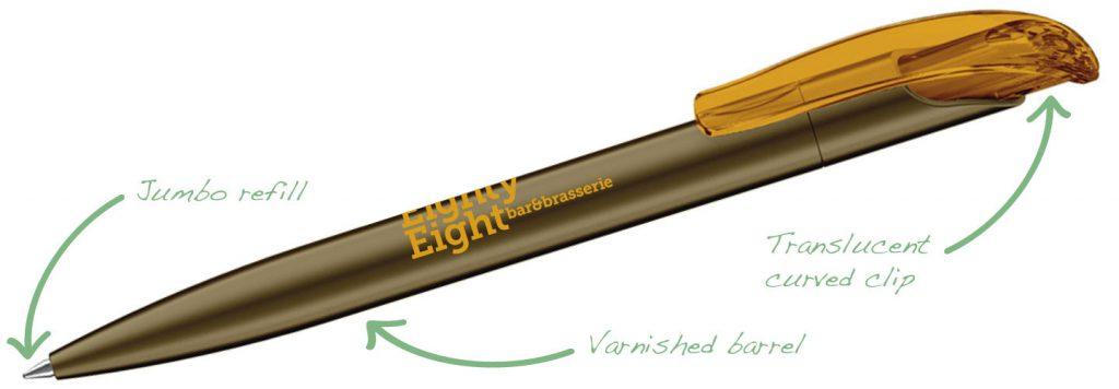 Challenger Varnished Gold 1024x356 - Plastic Pens