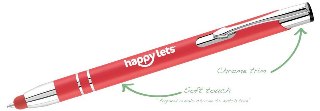 Electra SoftTouch Red 1024x356 - Metal Pens