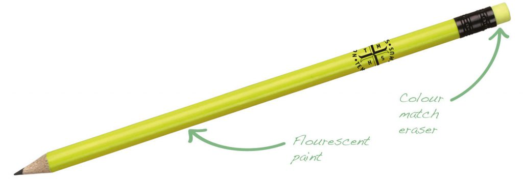 Flourescent Pencil Yellow 1024x356 - Pencils