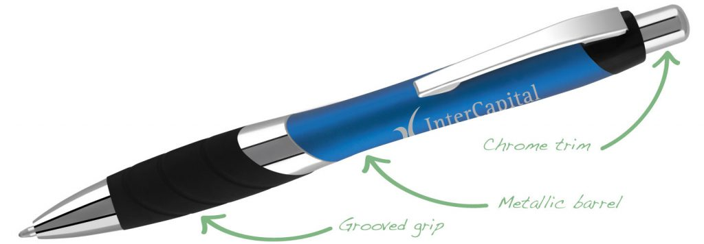 Moville Metallic Blue 1024x356 - Plastic Pens