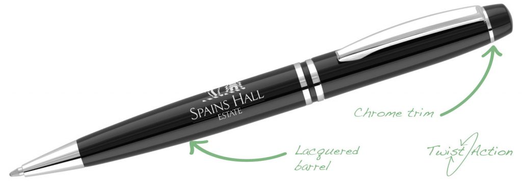 Churchill Black 1024x356 - Metal Pens