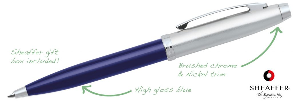 Sheaffer 100 Blue 1024x356 - Sheaffer Pens