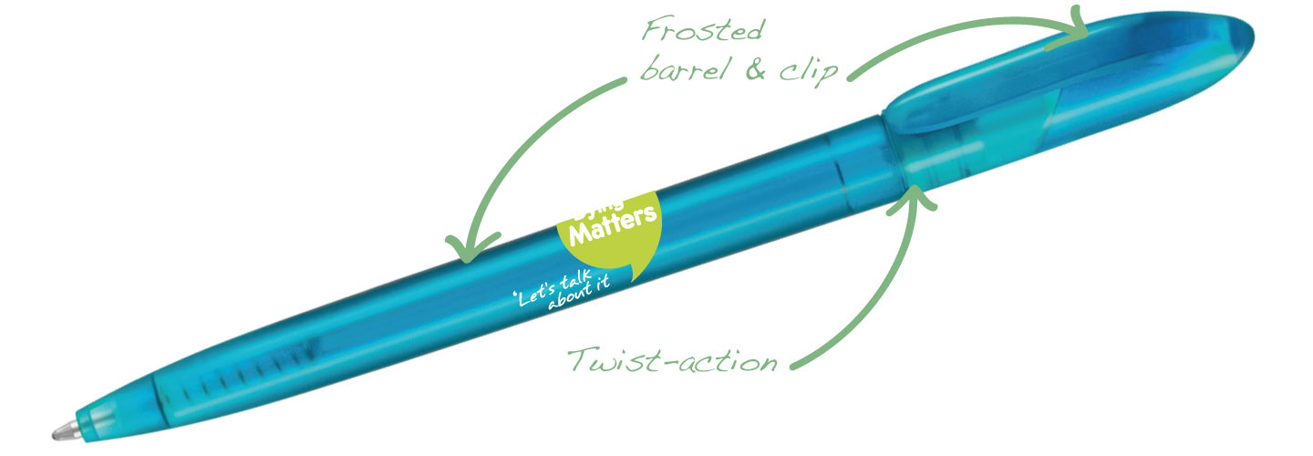 Supersaver Twist Frost Pens